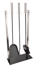 Fort Companion Set - Black Glass & Stainless Steel